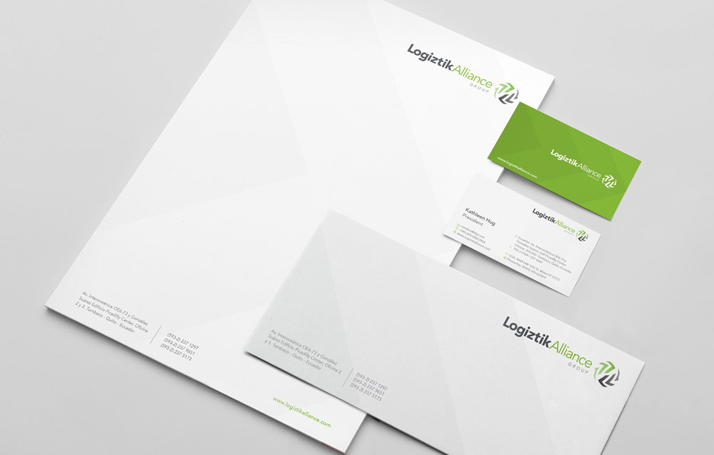 Brand applications and visual language in corporate stationery
