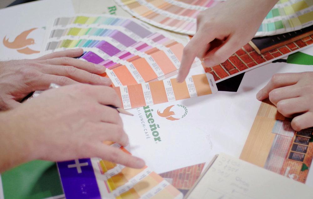 Selección de colores corporativos