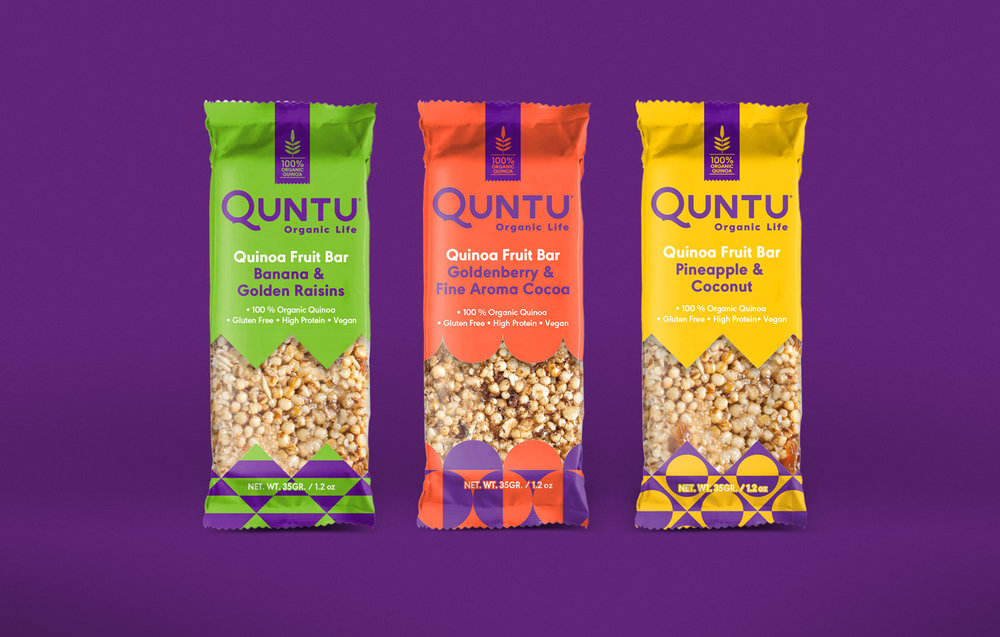 Packaging design for quinoa and fruit bars