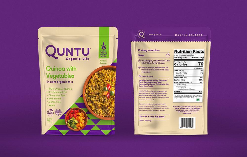Quinoa mixes packaging