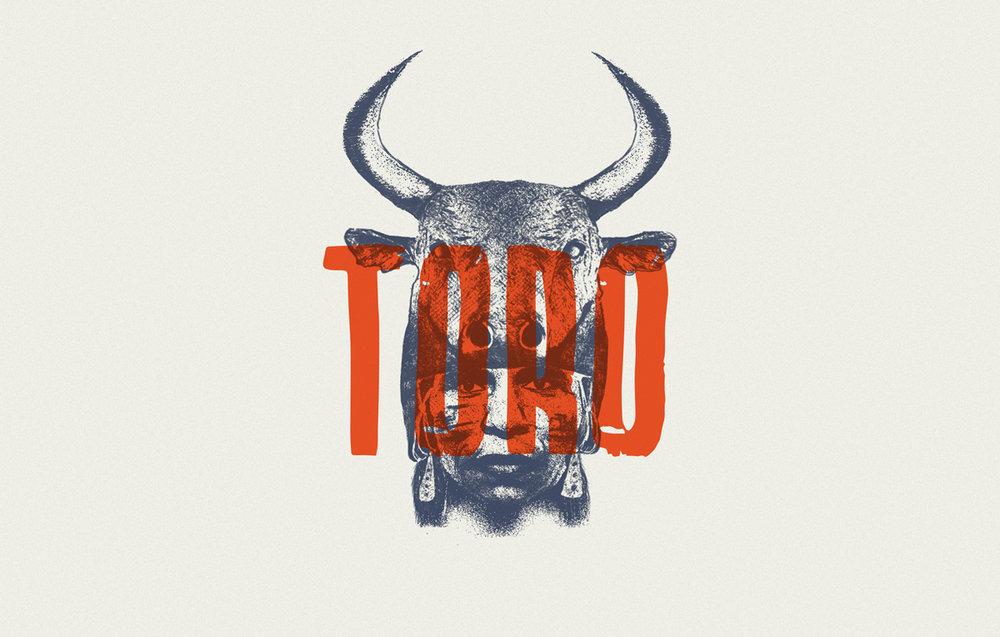 Ilustración para cerveza roja Toro Red Ale