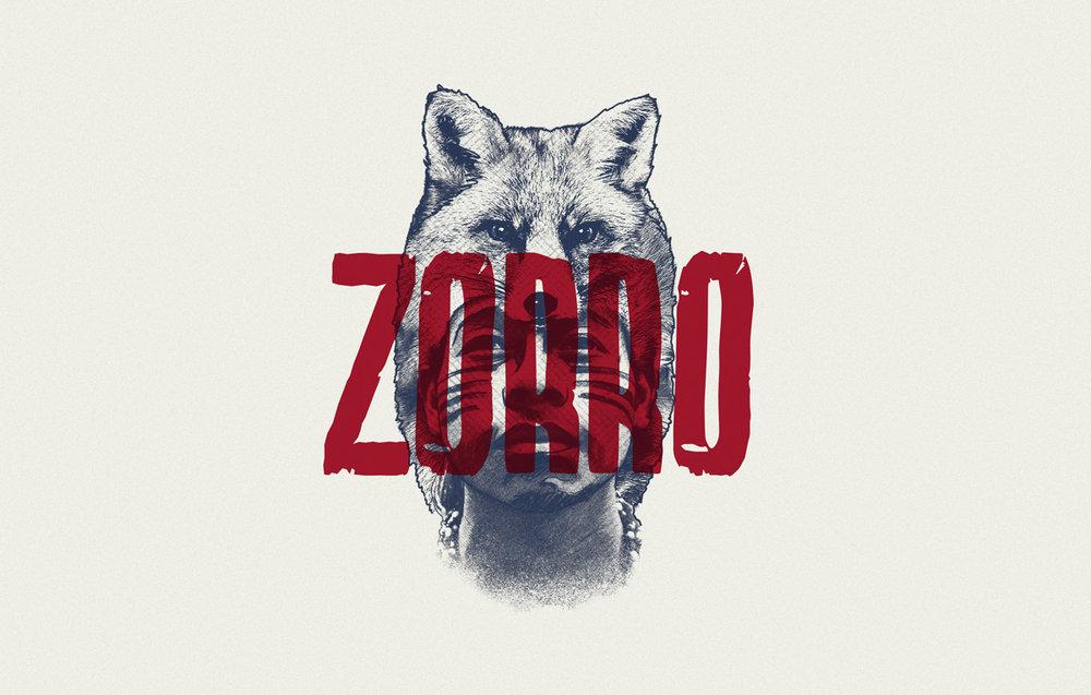 Ilustración para cerveza Zorro Strong Ale