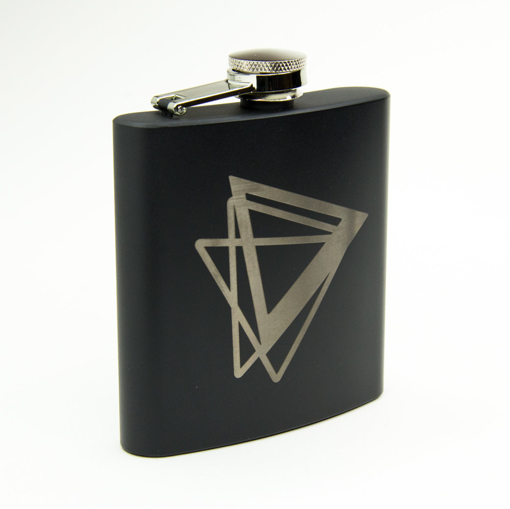 Laser engraving flask