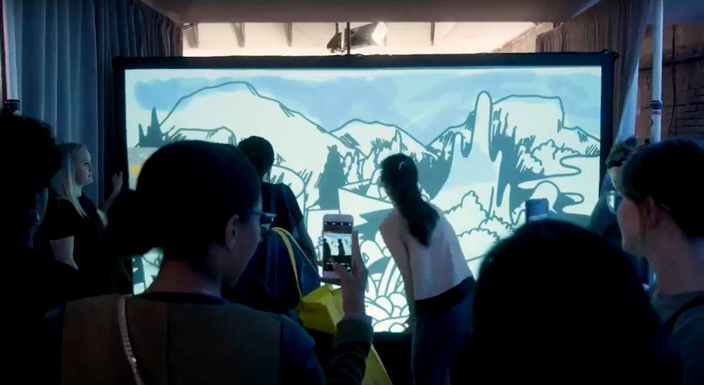 Guests using our Digital Graffiti Wall
