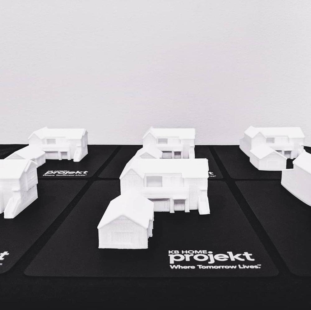 3D printed mini houses