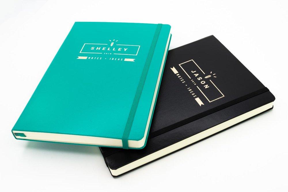 Laser engraved notebooks