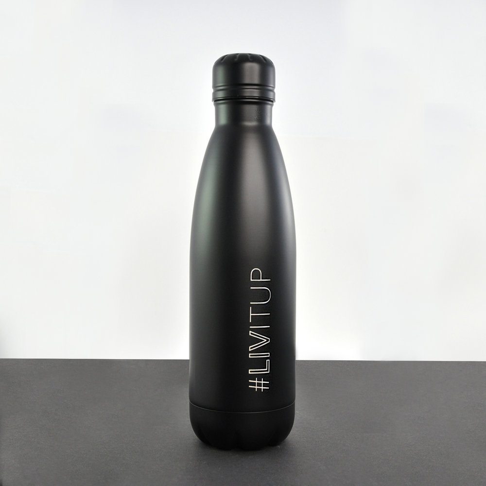 Laser engraved water bottle