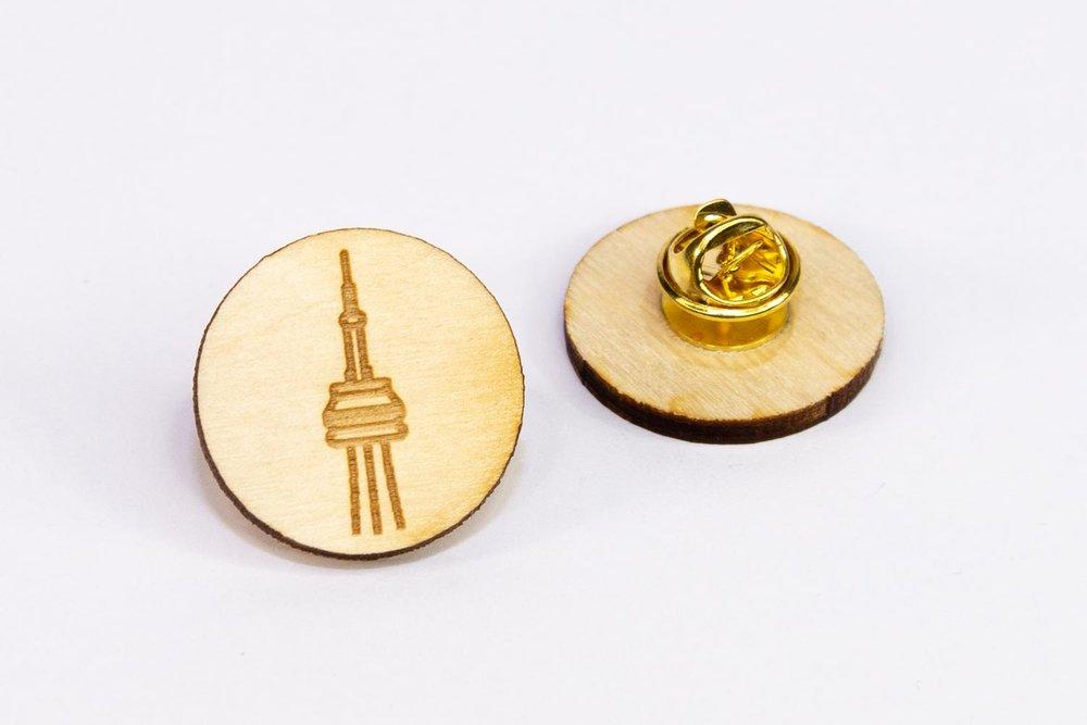 Laser engraved lapel pin