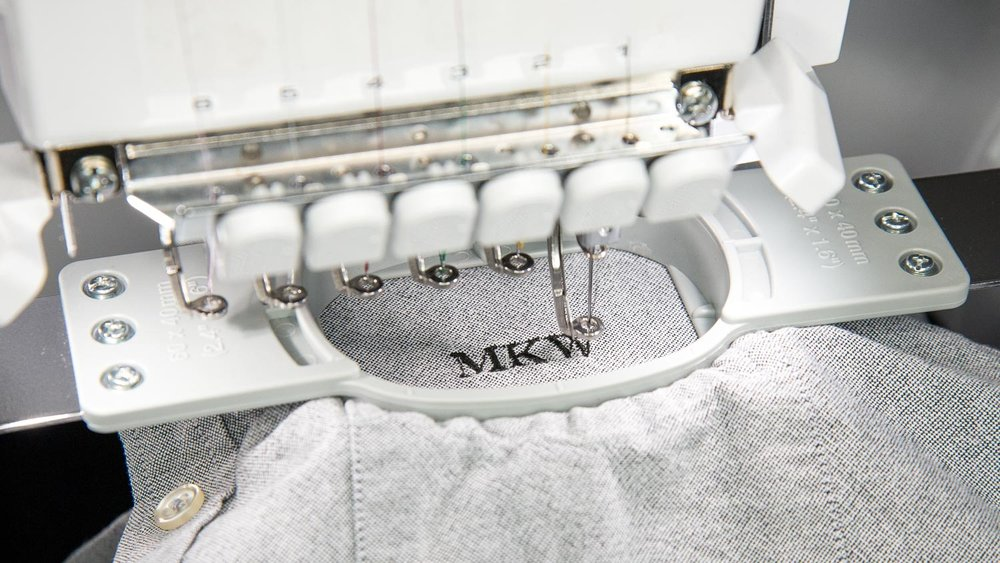 Our embroidery machine in action