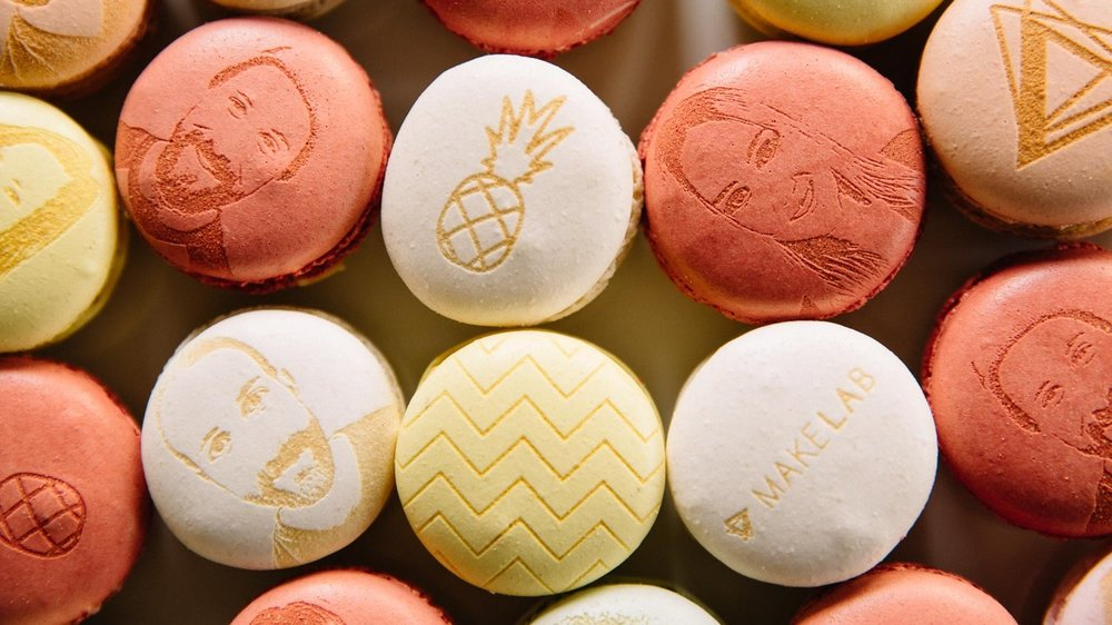 Cookie + Macaron Production - Instead of having our team on-site at your event, order custom laser engraved confections for your guests.SEE MORE