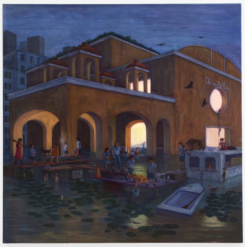 "Fair View, 48"" x 48"", oil on canvas/panel, 2014"