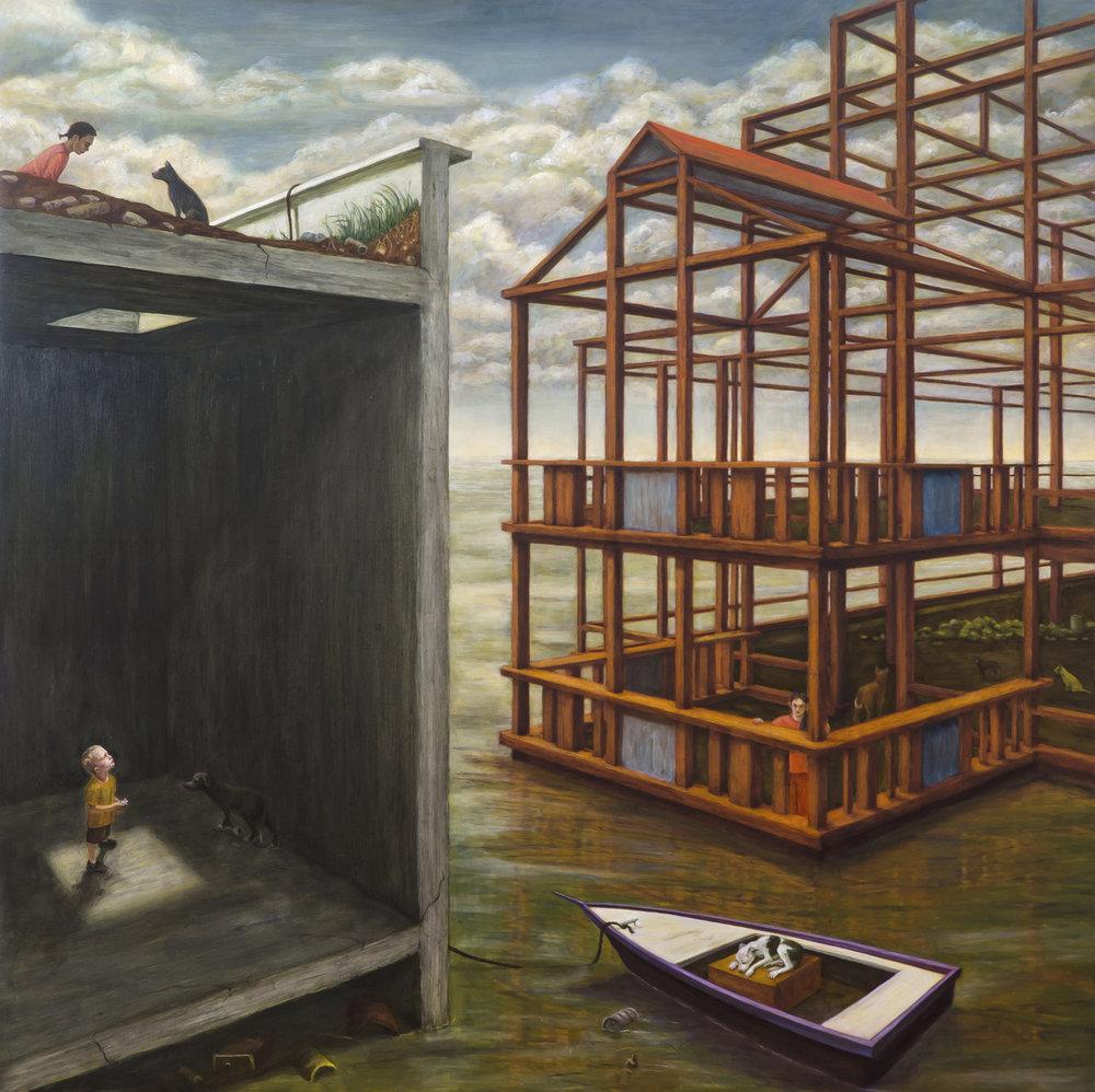 "Passage, 48"" x 48"", oil canvas/panel, 2015"