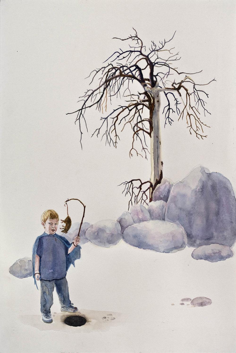 "Reward, 16.75"" x 11.75"", watercolor & gouache on paper, 2010"