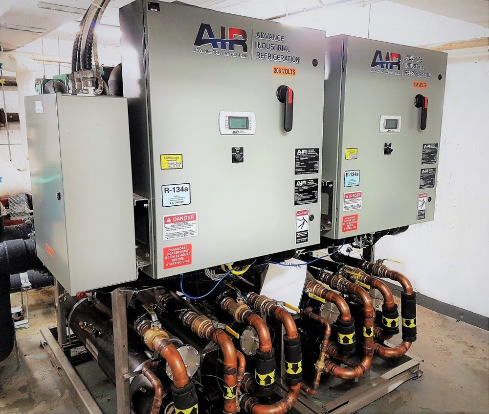 New ModulAIR chiller installation shown.