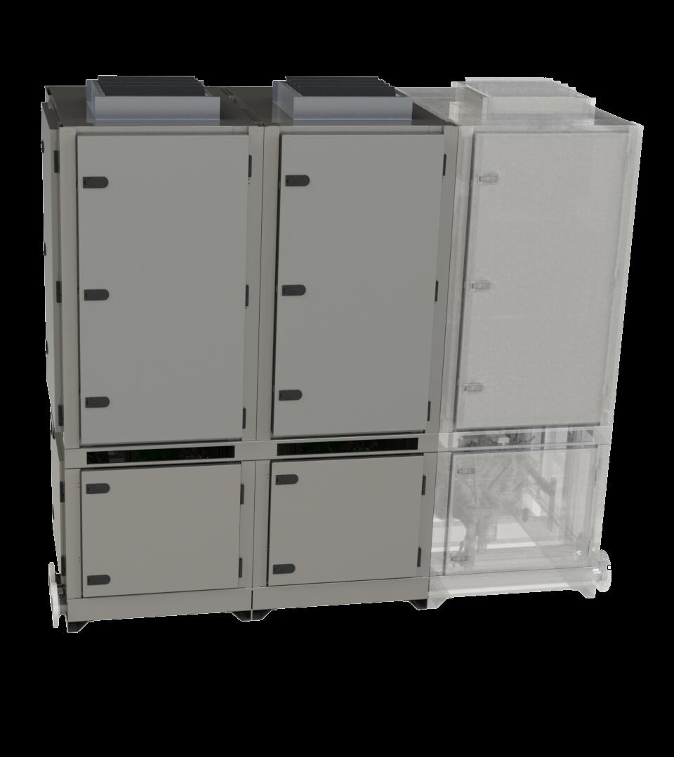 Industrial modular DX unit