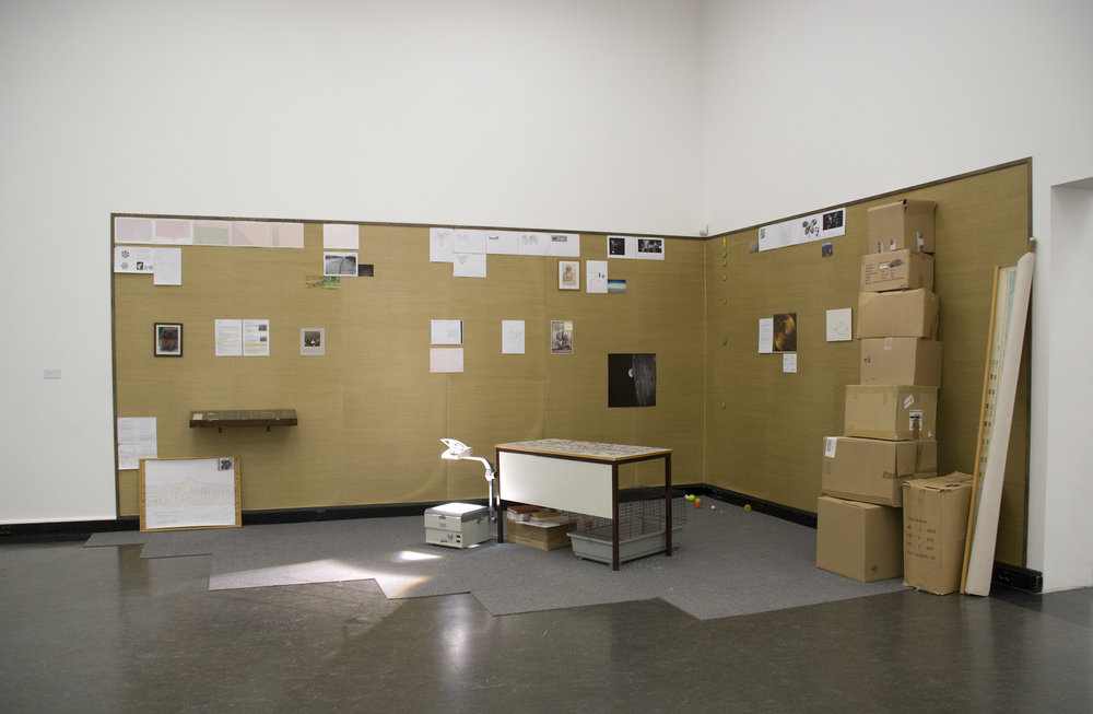 Empty Orchestra  (2008) Installation, mixed media Variable dimensions  Installation view,  Tomorrow's Parties,  masters degree show, Bergen Kunsthall 2008