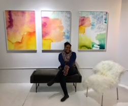 The artist Eyenga Bokamba in her gallery  Future Tense  in Minneapolis