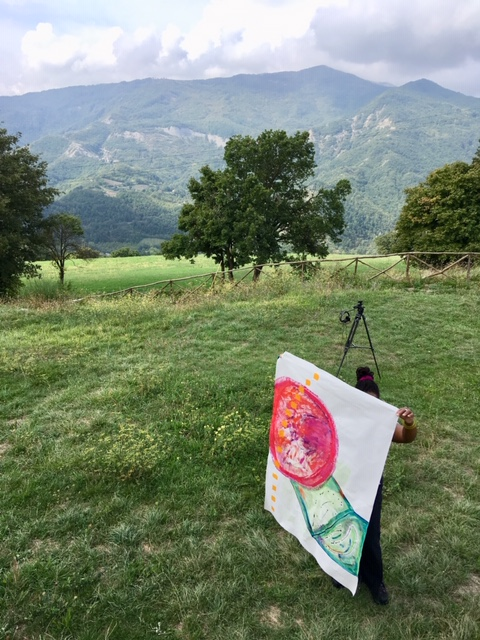 Eyenga Bokamba, Bascio Tower Installation  September 2018, Pennabilli, Italy