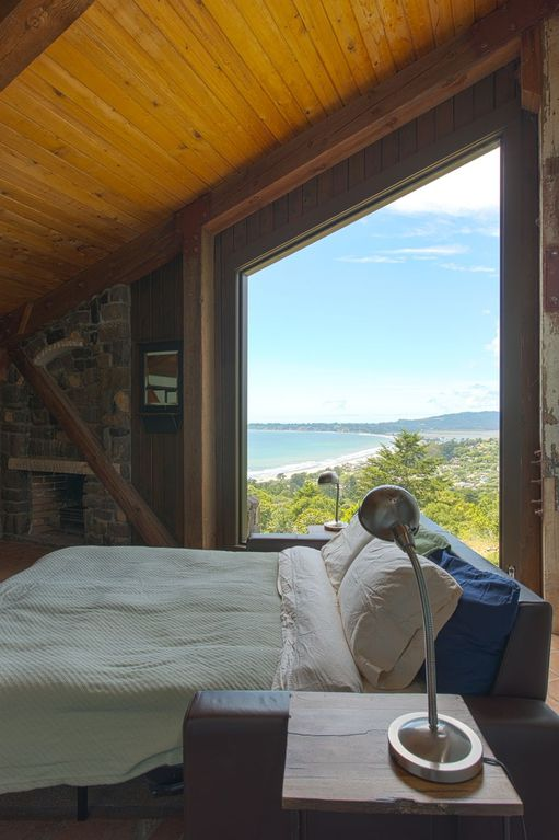 Great view of the ocean from the master bedroom.
