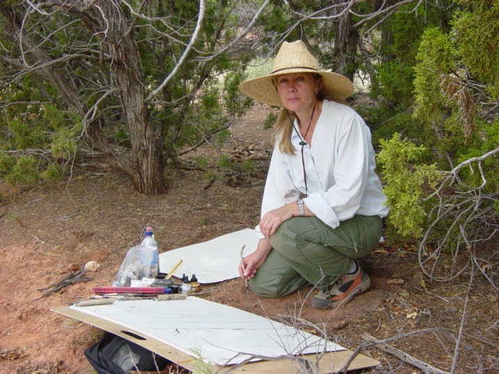 Lynne at ghost ranch  NM 015.jpg