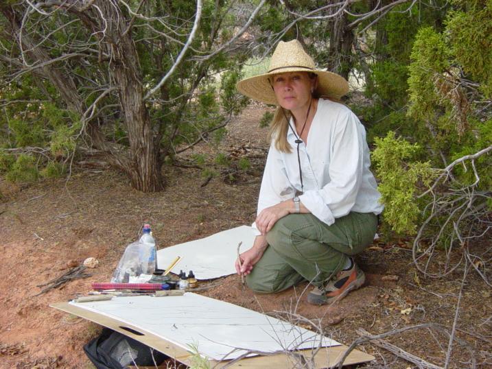 Lynne at ghost ranch  NM 015.jpg