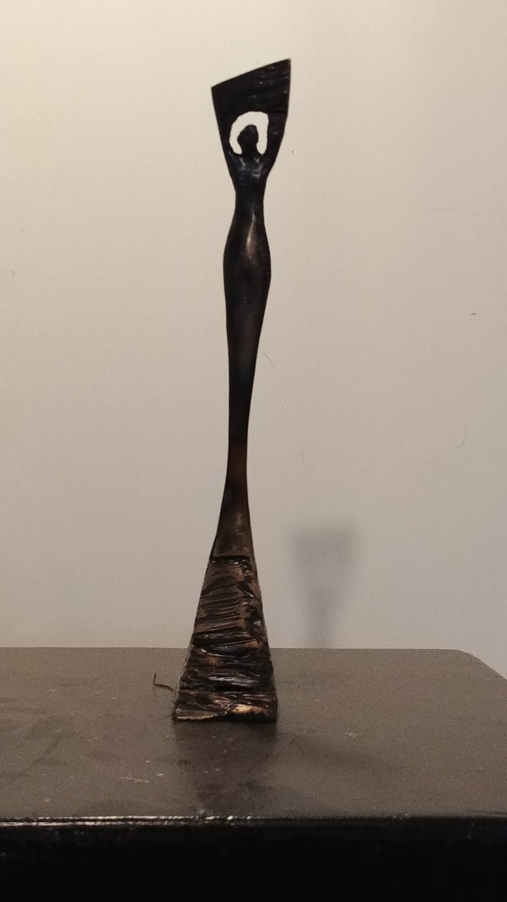 "Vertical Angel, 15"", steel"