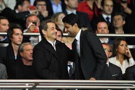 Nasser Al-Khalaifi with French President Nicolas Sarkozy