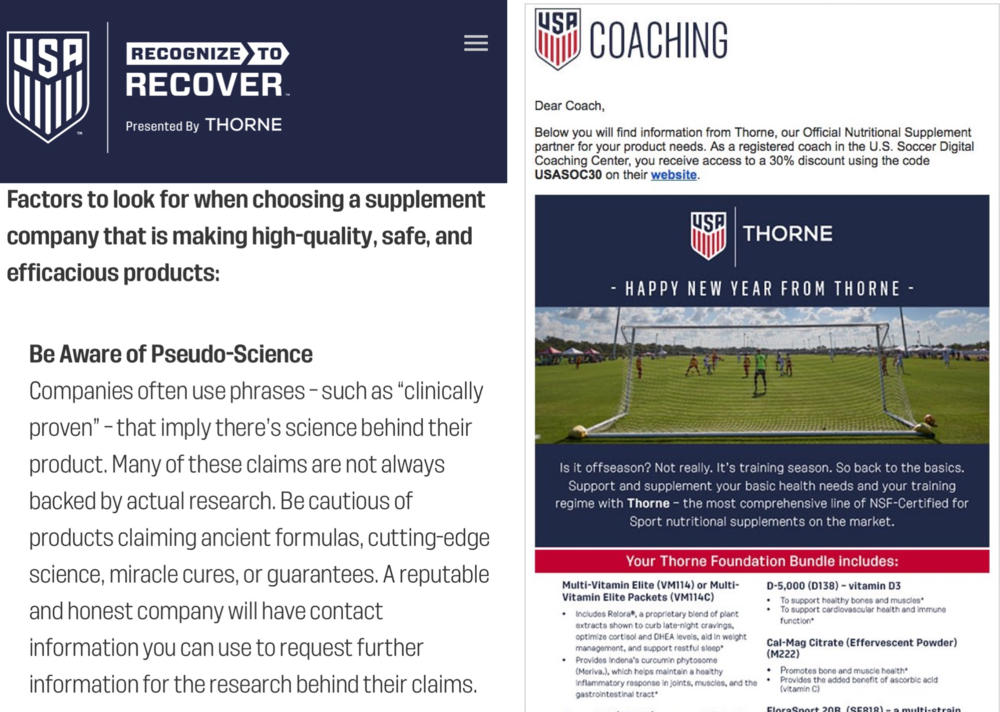 """""""Be aware of Pseudo-Science"""" --Official USSF Diet Pill Supplier"""