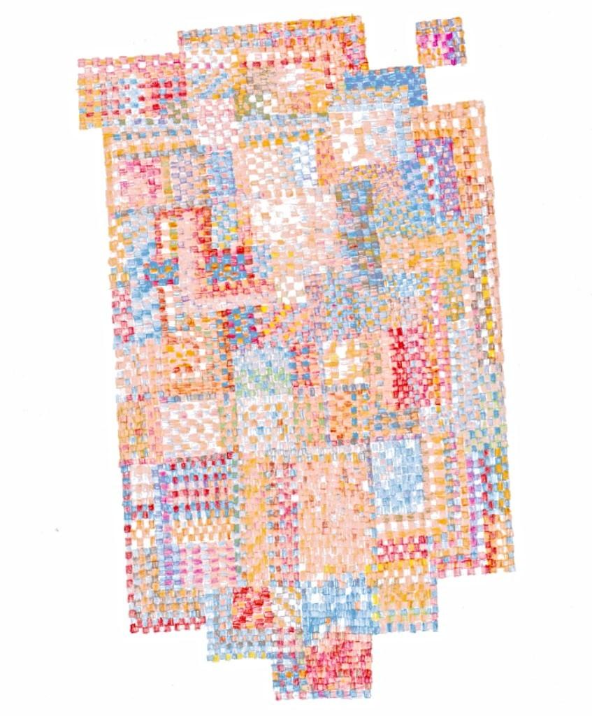 """MPQ 5 ... colored pencil on paper 9.5""""x7.5"""""""