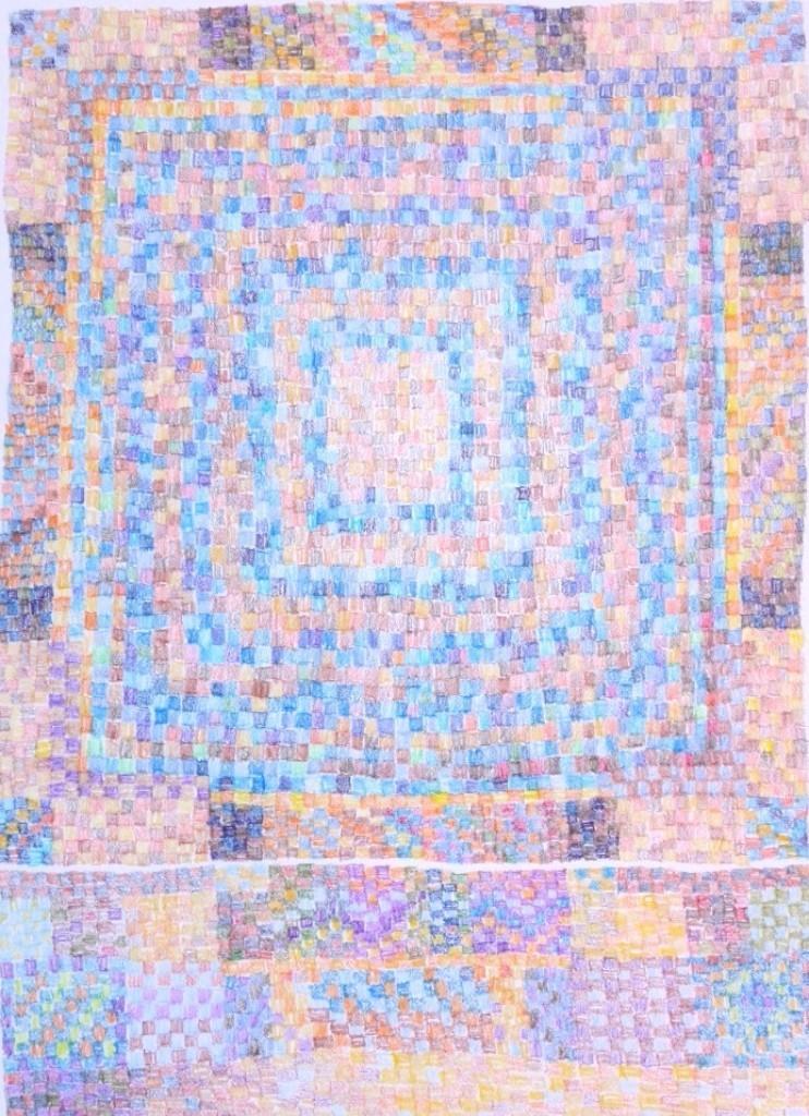 """MPQ 8 ... colored pencil on paper 9""""x6.5"""""""