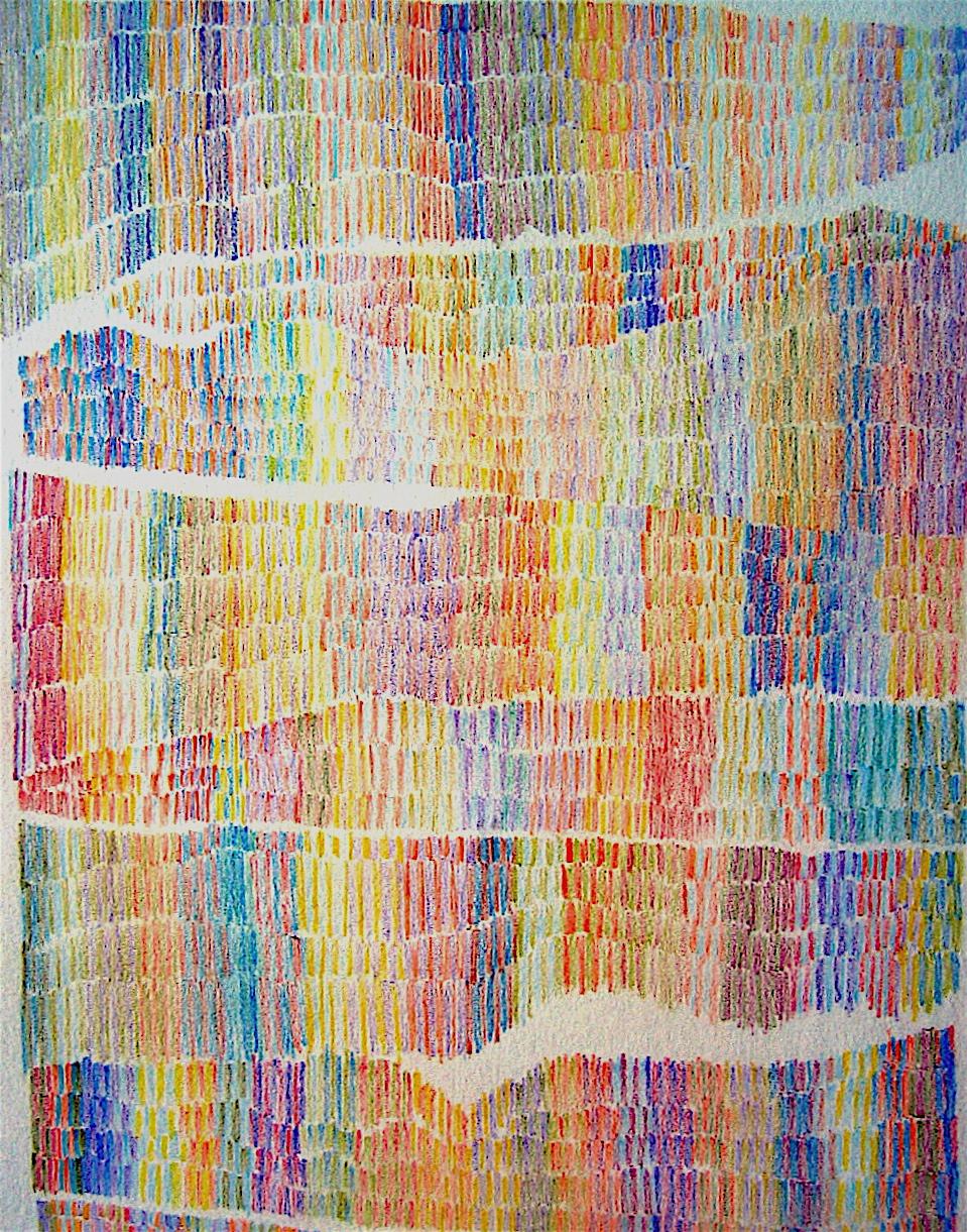 """MPQ 9 ... colored pencil on paper 9""""x6.5"""""""
