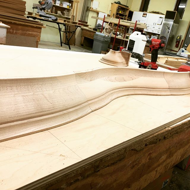 Current project, it's not every day that you get to do some curved Moulding #custom #woodworking #farmhouse #design #farmhouse #nashville