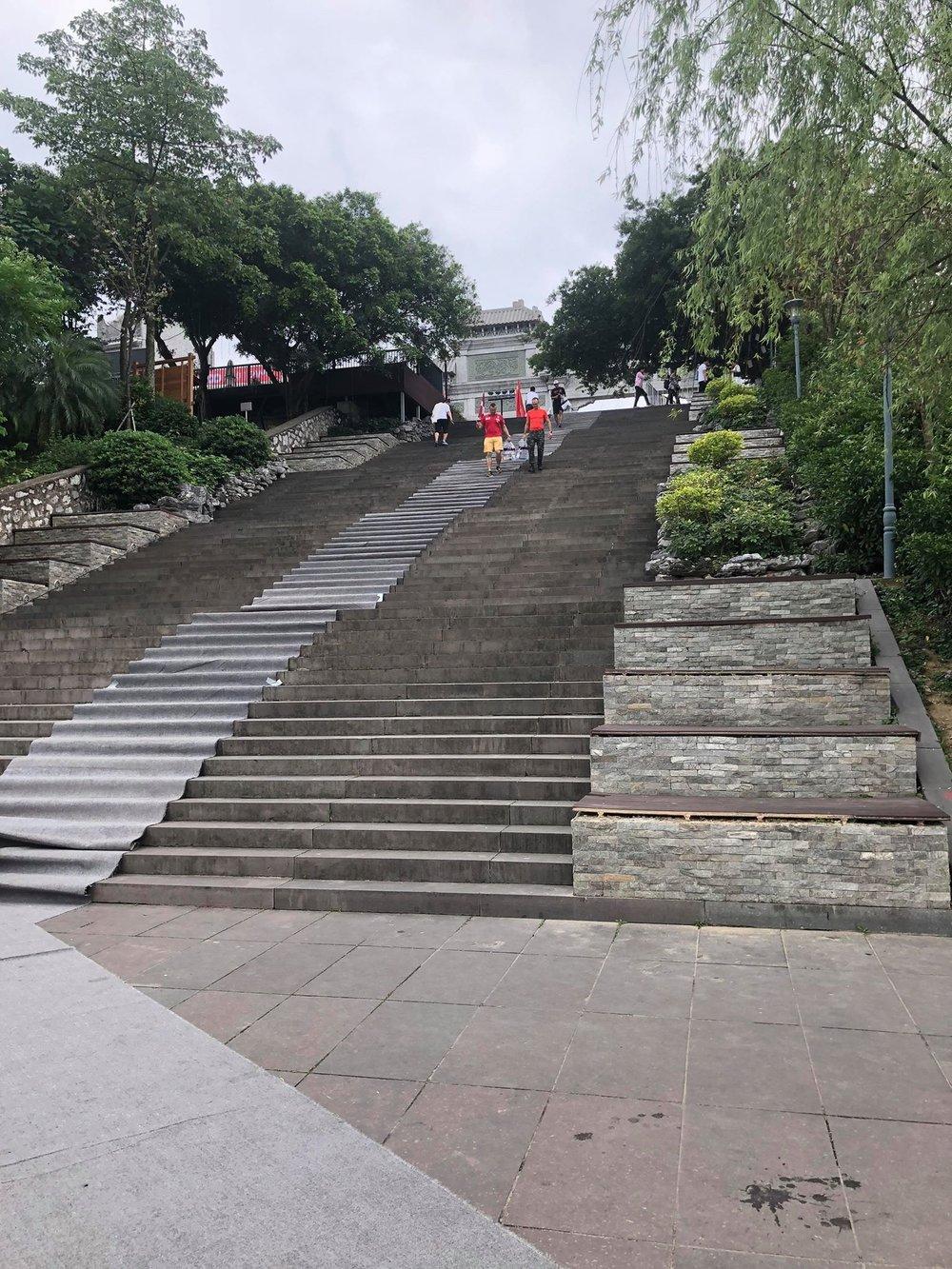 Coach_Terry_Wilson_Shannon_Florea_Rasco_Ironman_70.3_lihzou_Swim_Up_Stairs.jpg