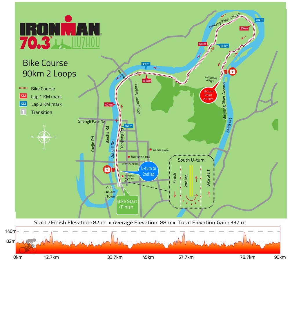 BikeCourse Taken directly from Athlete guide posted at: http://www.ironman.com/triathlon/events/asiapac/ironman-70.3/liuzhou/race-info/course.aspx#axzz5EJ1GRnzT