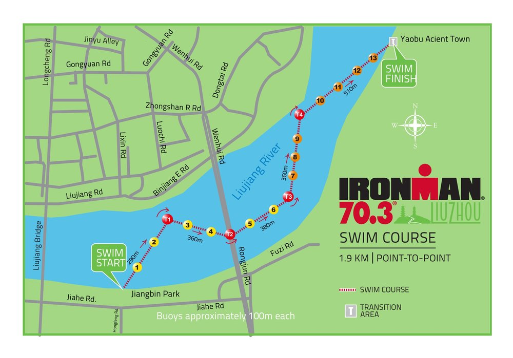 Swim Course Taken directly from Athlete guide posted at: http://www.ironman.com/triathlon/events/asiapac/ironman-70.3/liuzhou/race-info/course.aspx#axzz5EJ1GRnzT