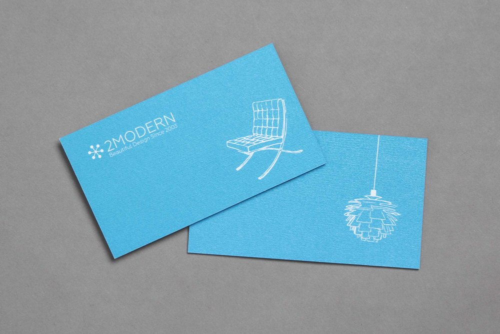 Sophisticated business cards that help elevate the brand.