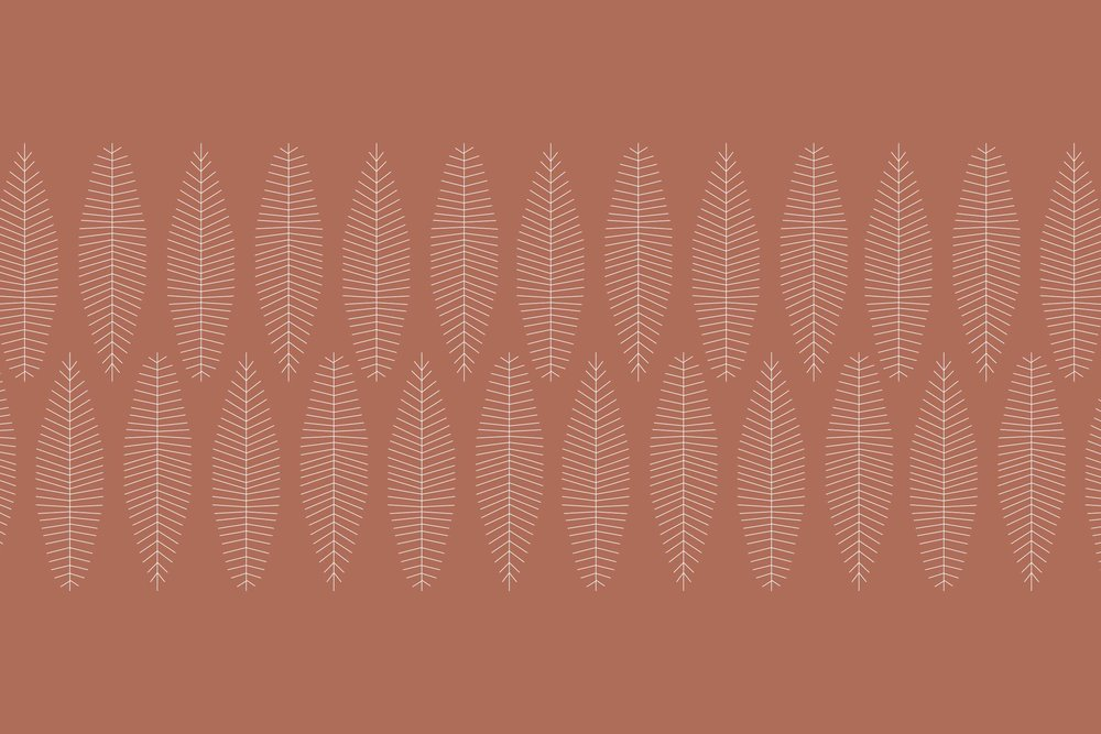A copper, leaf pattern designed for the fall season for the Carolina Boutique brand in Mill Valley, California.