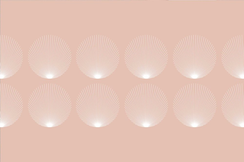 A pink, pretty, summer shell pattern developed for a clothing brand downtown Mill Valley.