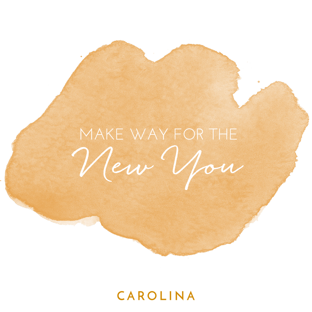 Make Way for the New You Instagram post using the sunflower, watercolor paint background for the Carolina Boutique brand.