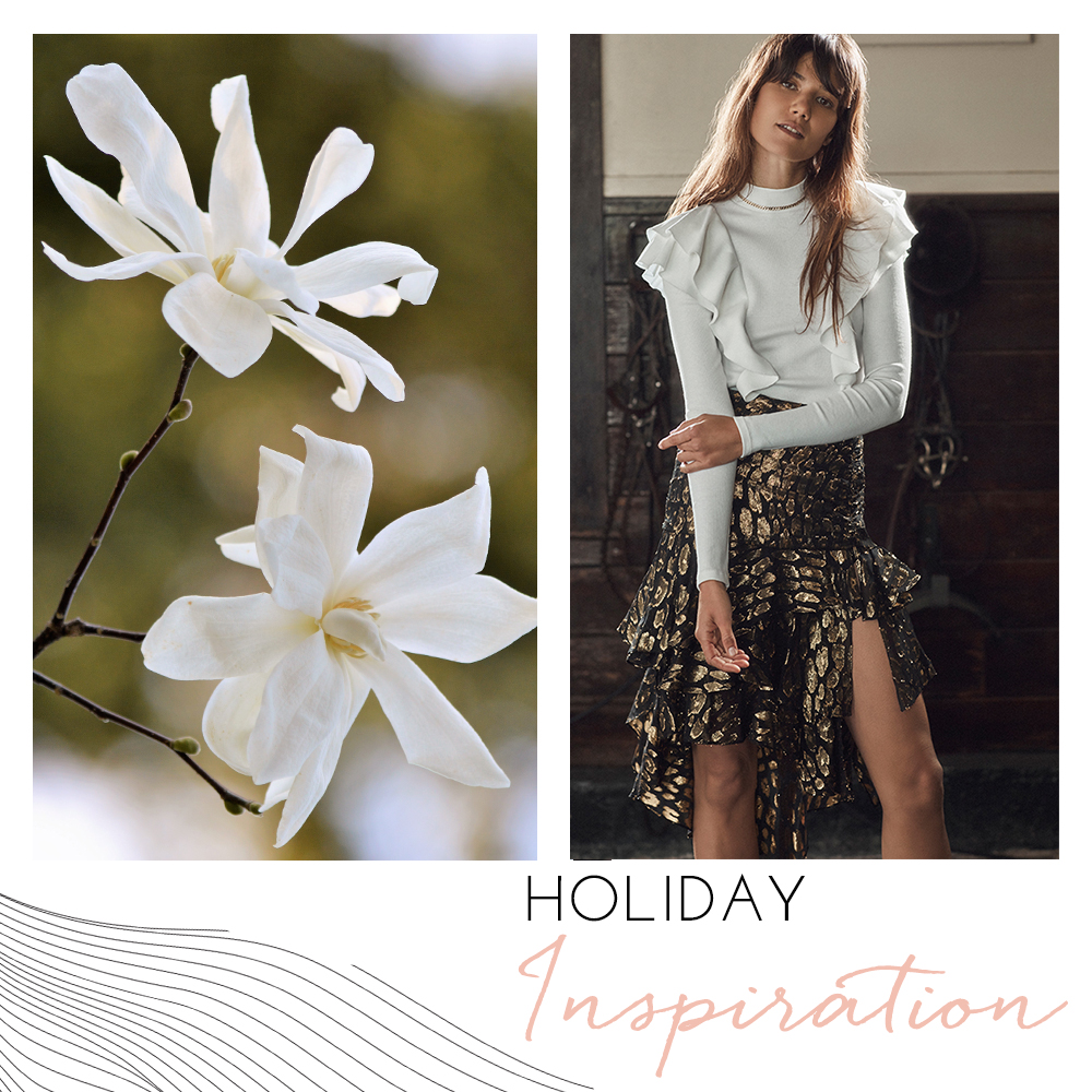 Designed for the Carolina Boutique clothing brand in Mill Valley, California, this is a holiday inspiration Instagram post.