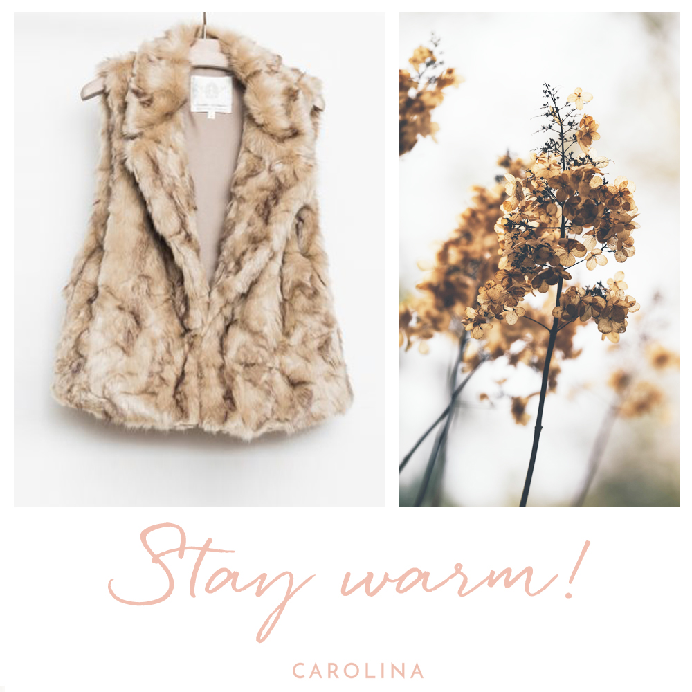 Stay Warm Instagram post for a clothing boutique brand in Mill Valley, California.