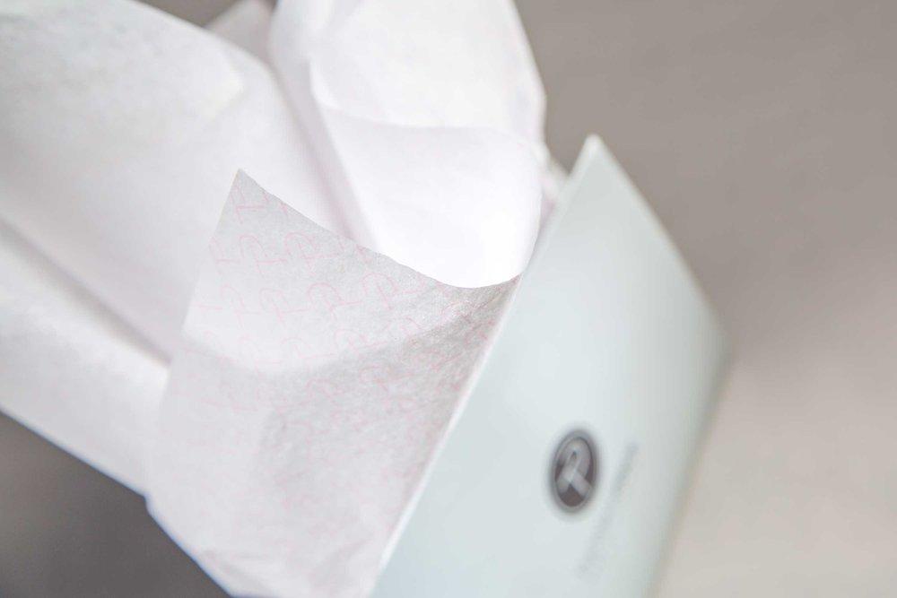 Thomas Pinck branded tissue paper.
