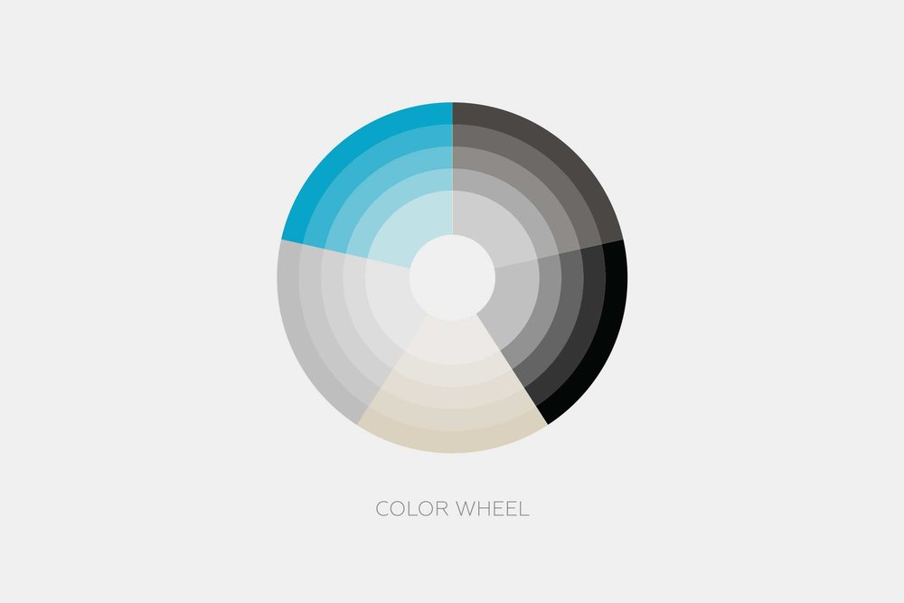 A color wheel that helps define the 2Modern brand.