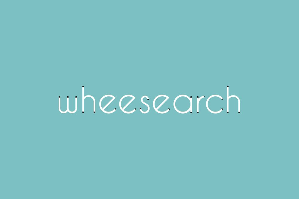 A graphic to show detail in the word mark of the Wheesearch logo.