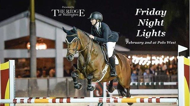 Come join us for a fun evening of showing tomorrow night, Friday, Feb 2nd for Low and High Child/Adult Jumper riders at THE RIDGE FRIDAY NIGHT LIGHTS JUMPER CLASSIC held in the sand arena at Polo West. Prizelist at www.theridgefarm.com or enter online at Horseshowing.com