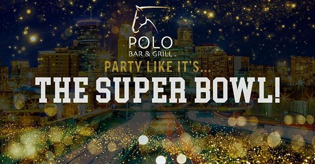 Want to make the best plans for the big game? The Polo Bar & grill Super Bowl Party is the place to be! Invite your friends for an all-you-can-eat buffet, drink specials and the best viewing experience of the game, on our brand new HD TVs. Tickets are $35 for the buffet. Call Polo Bar & Grill to buy your tickets today for this Sunday. The party kicks off at 3:30 p.m.
