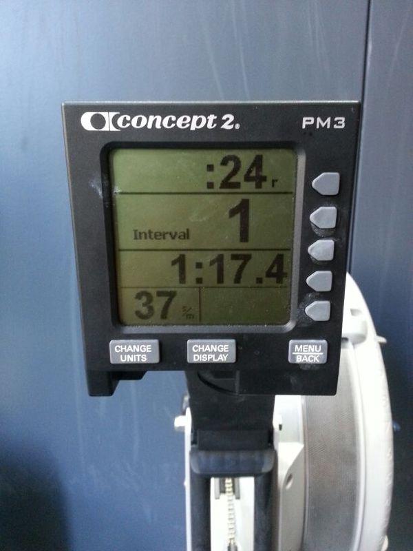 Crossfit rowing - 500 meter row 1:17 PR Tyrell Mara