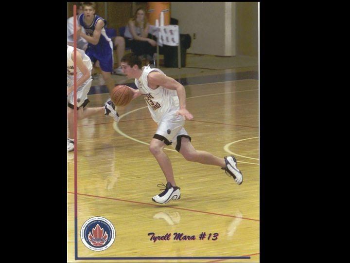 Tyrell Mara grade 9 basketball leadership
