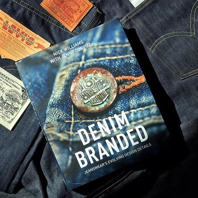 Repost from @everythingjacob DENIM BRANDED book on @levis.vintage.clothing #levis #levis501 #levisjeans #bookstagram #branding #book #graphicdesign