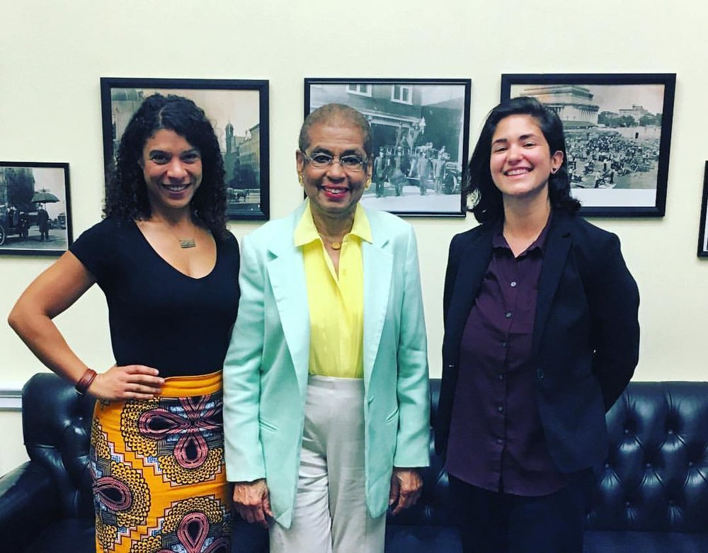 Laila & Caroline with U.S. Representative Eleanor Holmes Norton